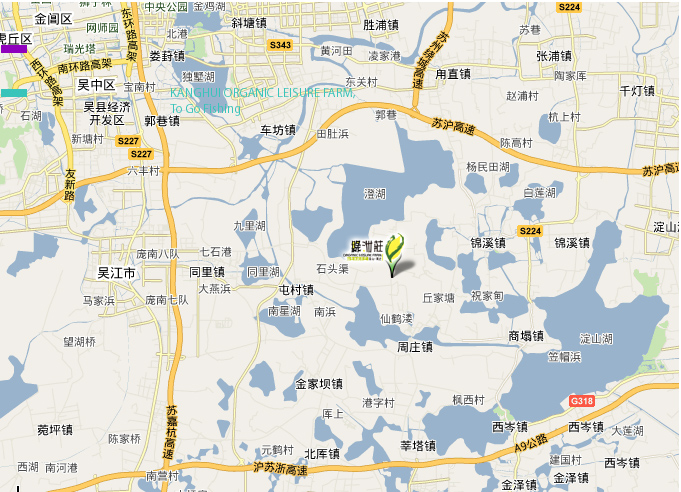 周庄风景区交通图